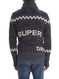 Superdry Men's Big Zip Mountain Knit Hooded Sweater Jacket