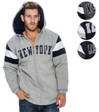 9 Crowns Essentials TR Men's New York Quilt-Lined Puff Hoodie