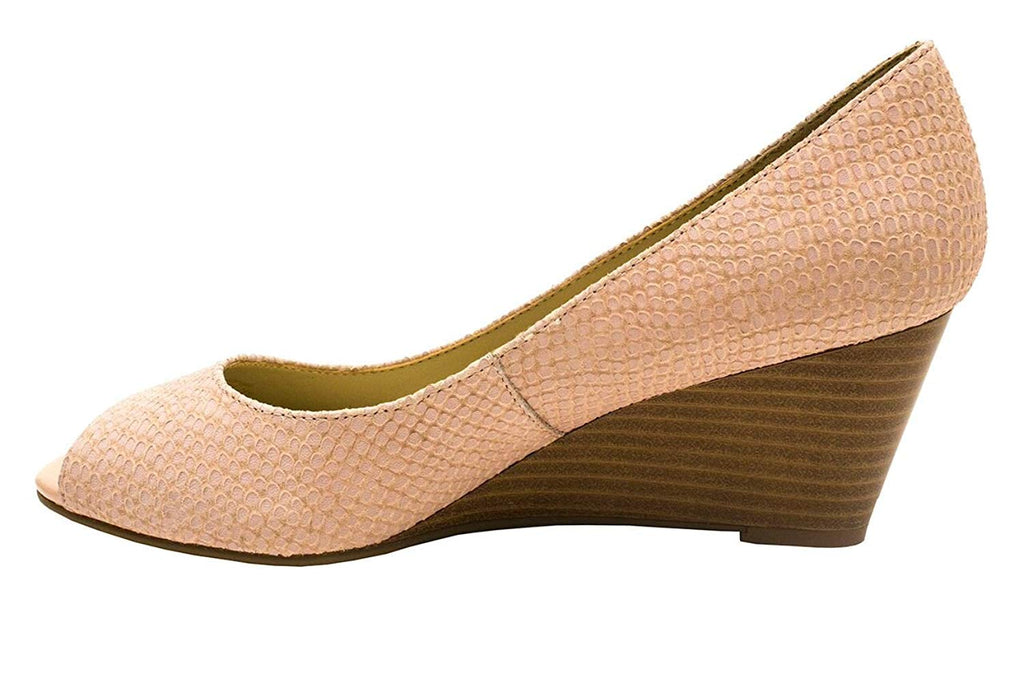 Isaac Mizrahi Live! Women's Perky Open Toe Wedge-Light Pink