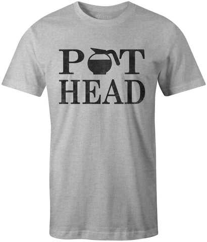 9 Crowns Tees Pot Head Coffee Lover's Funny Coffee Pot T-Shirt