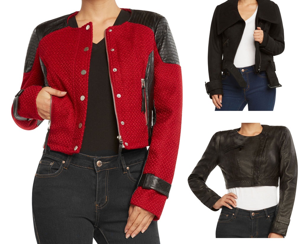 Runway NY Women's Moto Inspired Jacket by 9 Crowns Essentials