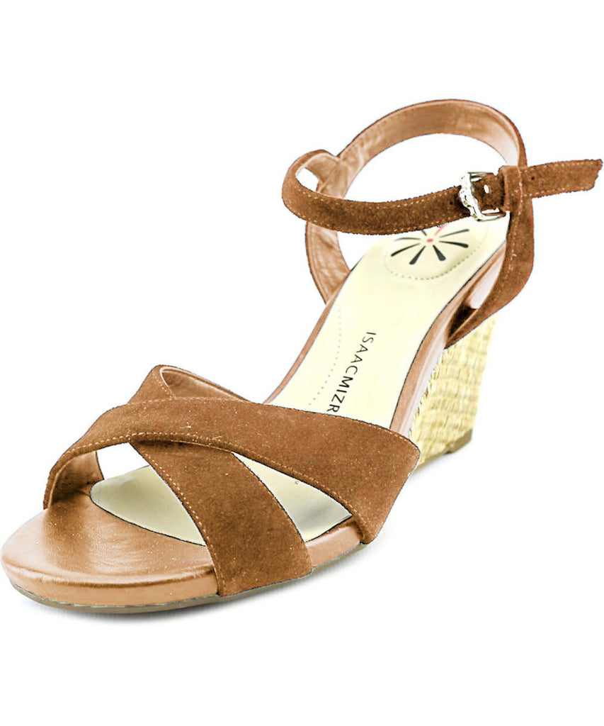 Isaac Mizrahi Live! Women's Sassy Suede Crossover Wedge Sandals