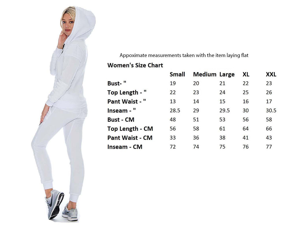 9 Crowns Womens Slim FIt Moto Tracksuit Hoodie Sweat Pants Set