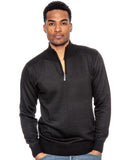 True Rock Men's Big & Tall Size Mock Neck 1/2  Zip Sweater