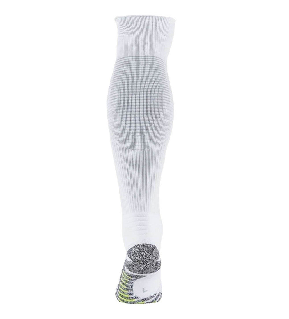 Nike Dri-Fit Grip Striped Cushioned Over The Calf Soccer Socks-White