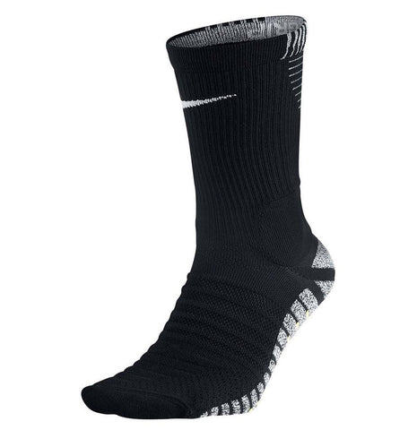 Nike Grip Men's Dri-Fit Strike Cushioned Crew Soccer Socks-Black