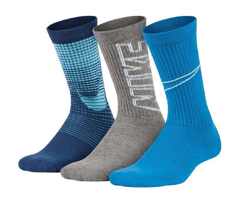 Nike Youth Athletes Performance Cushioned Crew Socks 3 Pack