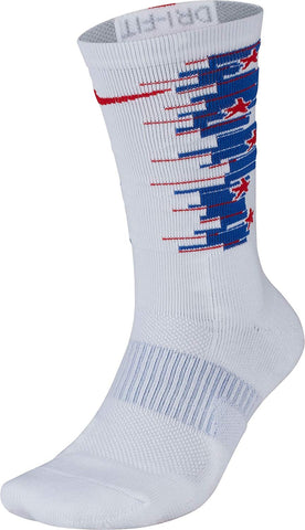 Nike Unisex Elite 4th Of July Crew Socks-White/Red/Blue