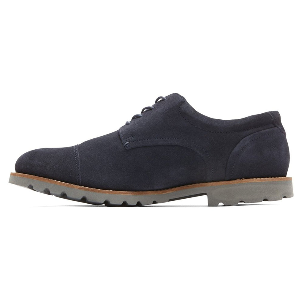 Rockport Men's Wide Channer Oxford-Navy/Grey