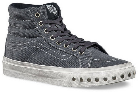 Vans Unisex Overwashed SK8-Hi Slim Shoe-Overwashed Blue Graphite