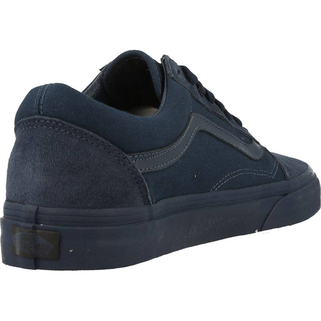 Vans Unisex Old Skool Mono Skate Shoes-Dress Blues
