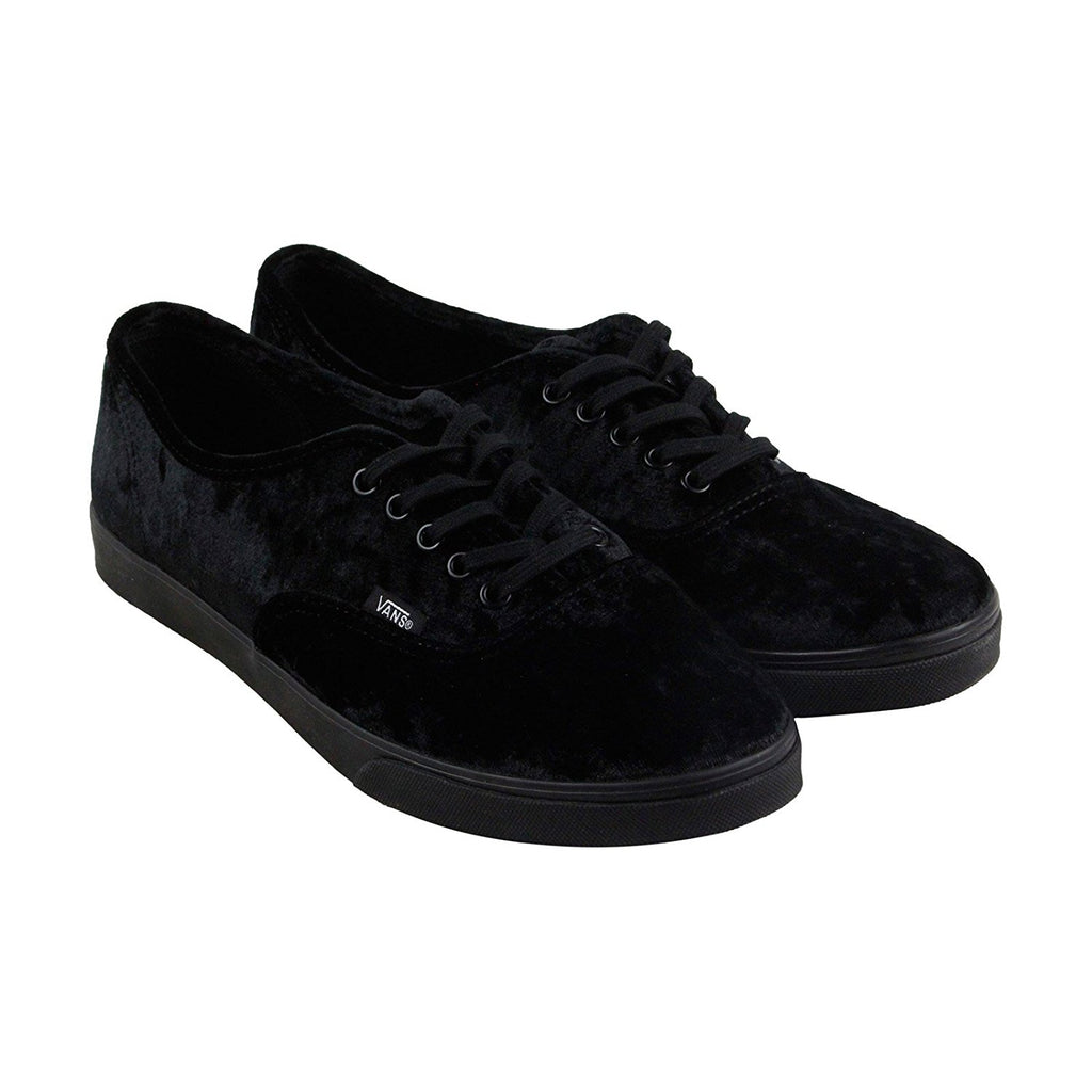 Vans Authentic Lo Pro Velvet Skate Shoes-Black Velvet