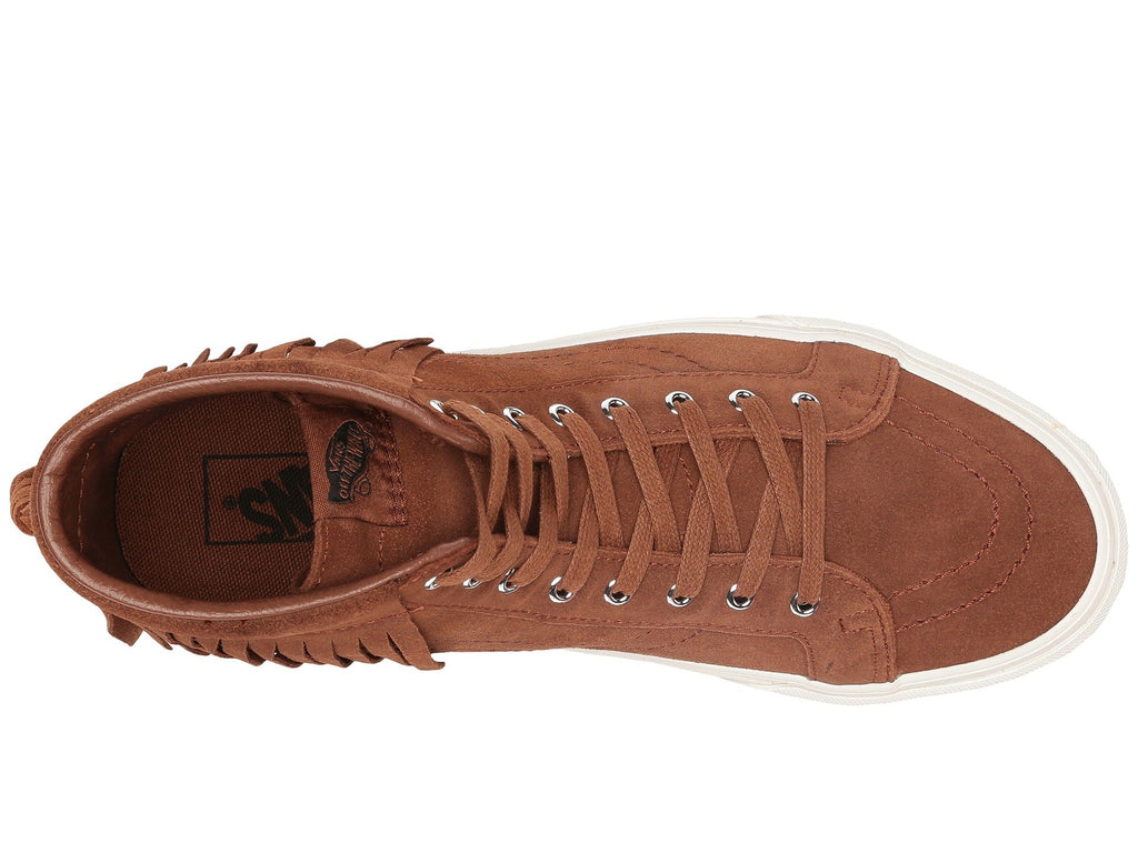 Vans Unisex Sk8-Hi Moc Suede Skate Shoes-Brown