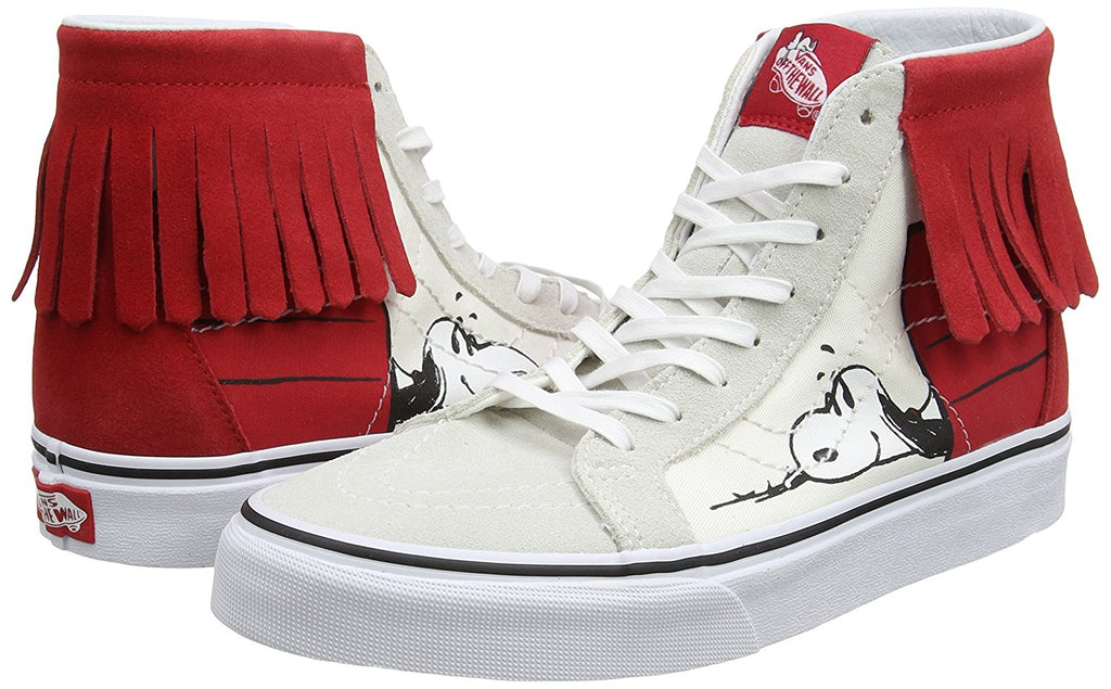 Vans Unisex Sk8-Hi Peanuts Moccasin Skate Shoes-Dog House/Bone