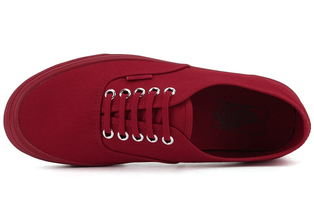Vans Unisex Authentic Primary Mono Skate Shoes-Red