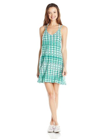 RVCA Juniors Sentori Tank Dress-Teal