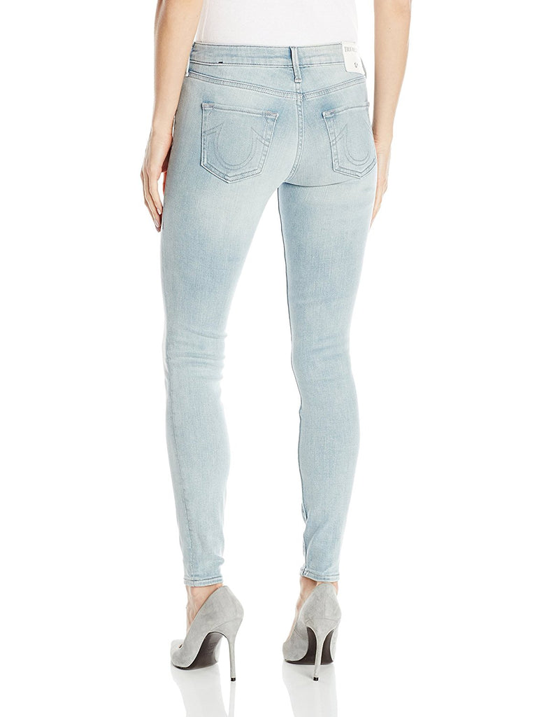 True Religion Women's Halle Super Skinny Eyelet Jeans