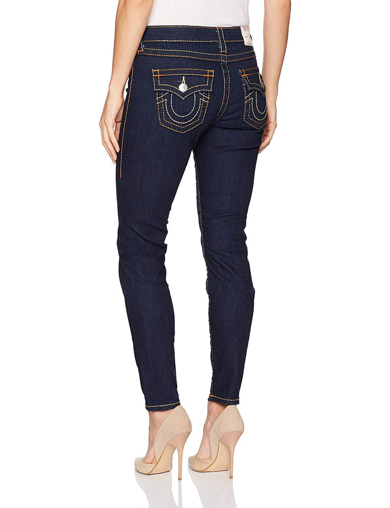 True Religion Women's Super Skinny Flap Big T Jeans