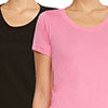 9 Crowns Women's Extra Slim Fit 2-Pack 3-Pack T-Shirts