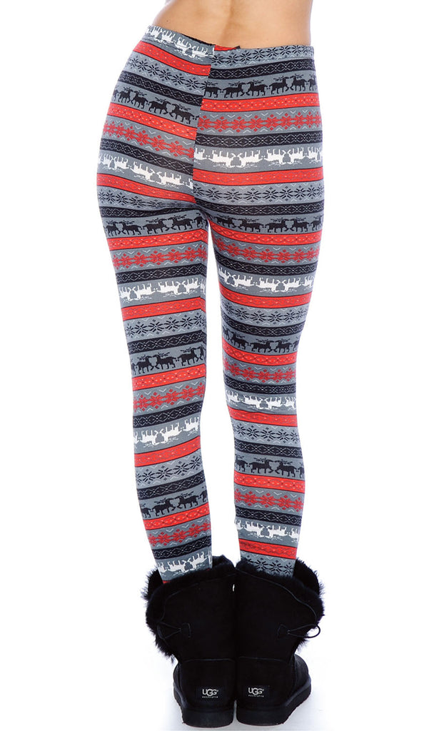 TR Juniors Winter Theme Fun Printed Footless Tights by 9 Crowns Essentials