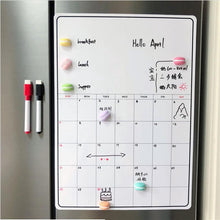 Load image into Gallery viewer, Magnetic Dry Erase Calendar Whiteboard
