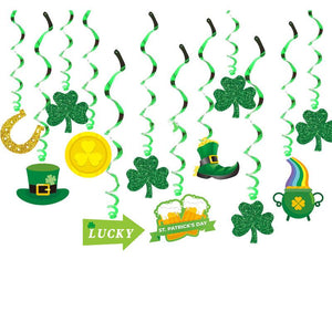 St Patrick's Day Party Decoration Swirls