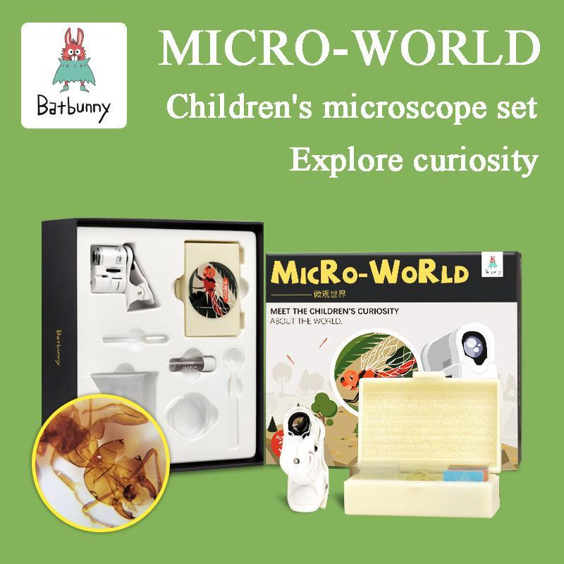 Micro world children's portable cell phone microscope
