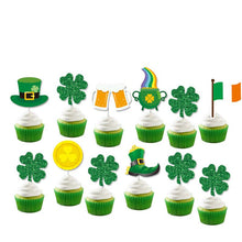 Load image into Gallery viewer, St Patrick's Day Cupcake Toppers and Wrappers