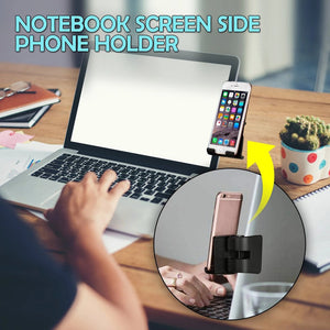 Computer screen phone holder