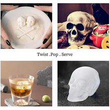 Load image into Gallery viewer, 3D SKULL LARGE ICE CUBE TRAY