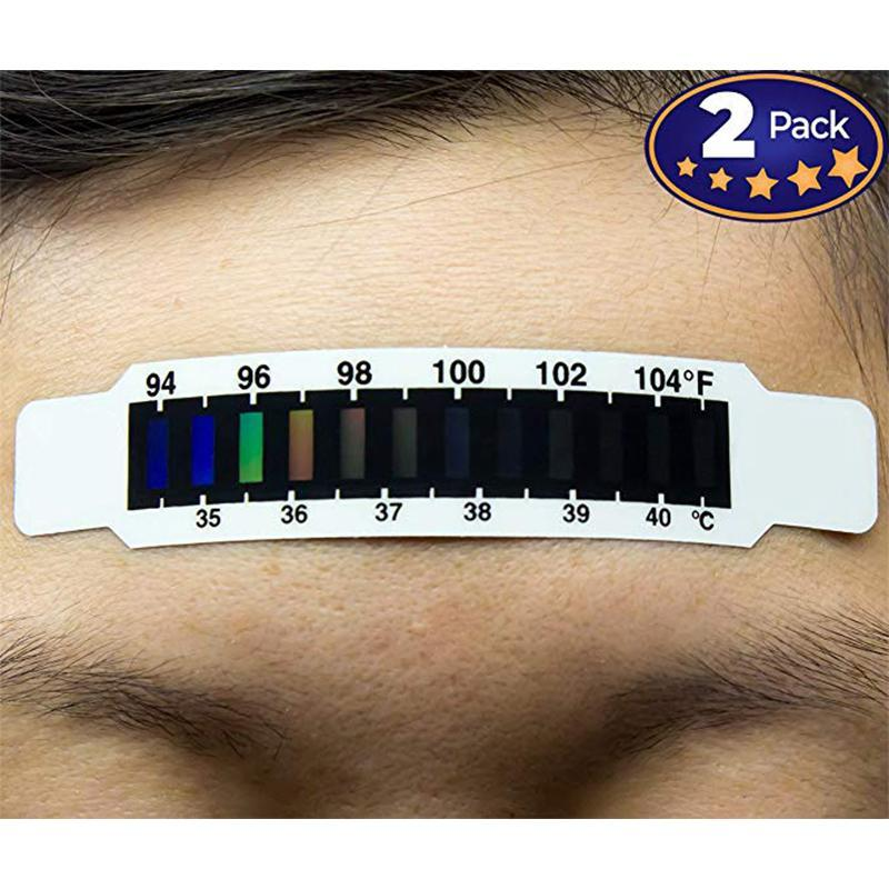 Forehead Thermometer Strips 2 Pack