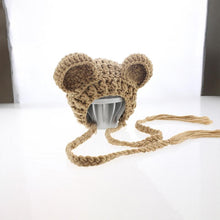 Load image into Gallery viewer, Newborn photography props-knitted teddy bear hat