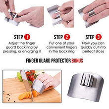 Load image into Gallery viewer, Stainless Finger Guard For Cutting(buy 2 get 1 free)