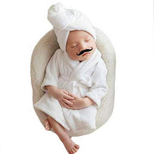 Load image into Gallery viewer, Newborn Baby Bathrobe Photo Suit