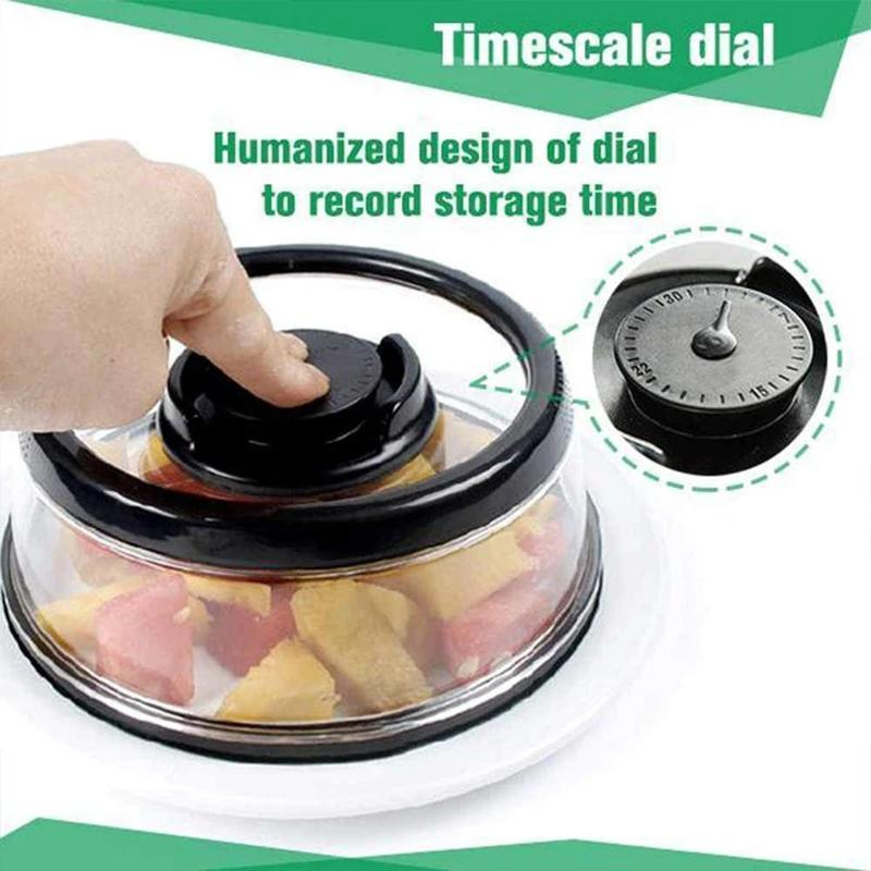Press N Fresh Vacuum Seal Food Lid - Preserves Cut Fruit/Leftover Food