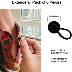 6-pack collar expander elastic button