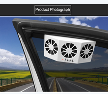 Load image into Gallery viewer, Car Solar Air Circulator Exhaust Fan