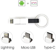 Load image into Gallery viewer, 3 in 1 Multi Charging Cable Portable Keychain Data Line