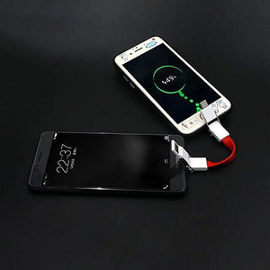 3 in 1 Multi Charging Cable Portable Keychain Data Line