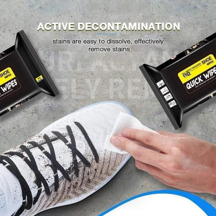 Portable Disposable Sneakers Cleaning Wet Wipes