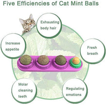 Load image into Gallery viewer, Self-Adhesive Rotating Catnip Ball Toy