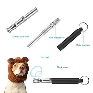 Dog Training Whistle with Clip( 3-piece set)