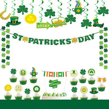 Load image into Gallery viewer, St Patrick's Day Party Decoration Swirls