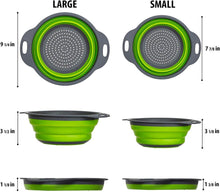Load image into Gallery viewer, Collapsible Colanders with Handles (2 Pc. Set)