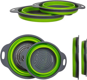 Collapsible Colanders with Handles (2 Pc. Set)