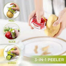 Load image into Gallery viewer, Three-In-One Stainless Steel Peeler