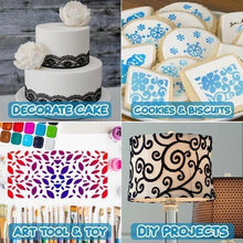Load image into Gallery viewer, DIY Cake Lace Decoration Mould - Set For 8