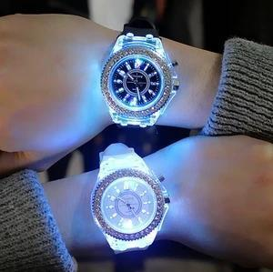 Led luminous watch couple watch
