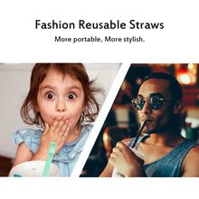 Load image into Gallery viewer, Reusable Straw Collapsible Silicone Straws