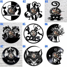Load image into Gallery viewer, VINTAGE LED CATS WALL CLOCK